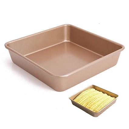 Molde para Hornear 8 Pulgadas Antiadherente Molde Cuadrado De La Torta Sólido Inferior Engrosamiento Horno Utensilios