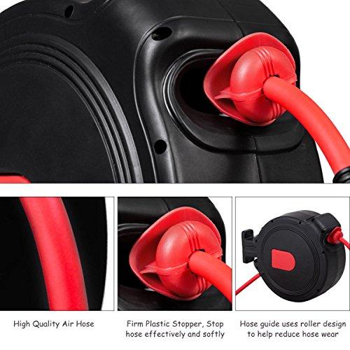 Case Of 2 Pro Garage Retractable Cord Reel Trouble Repair: Black& Red 3/8 X 50' Retractable Air Hose Reel 1/4 Inlet