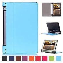 Lenovo Yoga Tab 3 8 case, Pasonomi® Premium PU Leather Folio Case Stand Cover With Smart Cover Auto Wake / Sleep Feature for Lenovo Yoga Tab 3 8 Inch tablet (Dark Blue)
