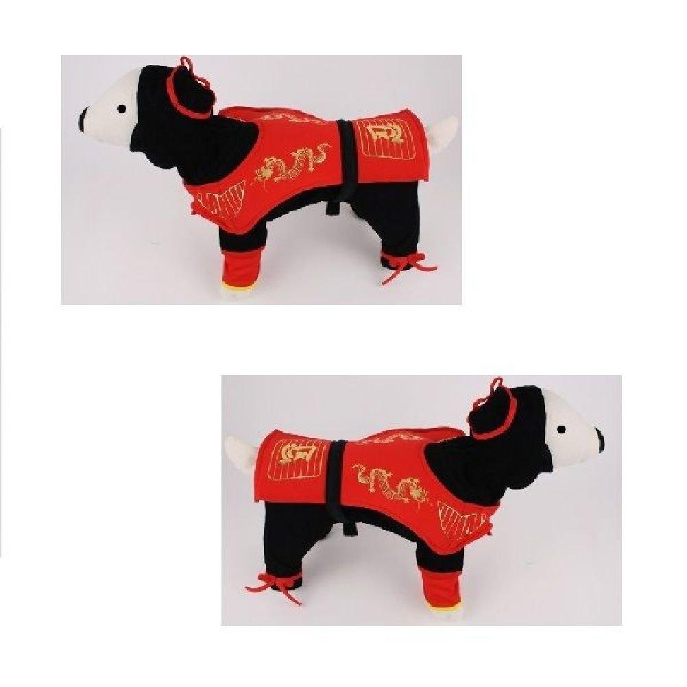 Dog Costume-Dragon Ninja Costumes Dress Your Dogs As Red Ninjas