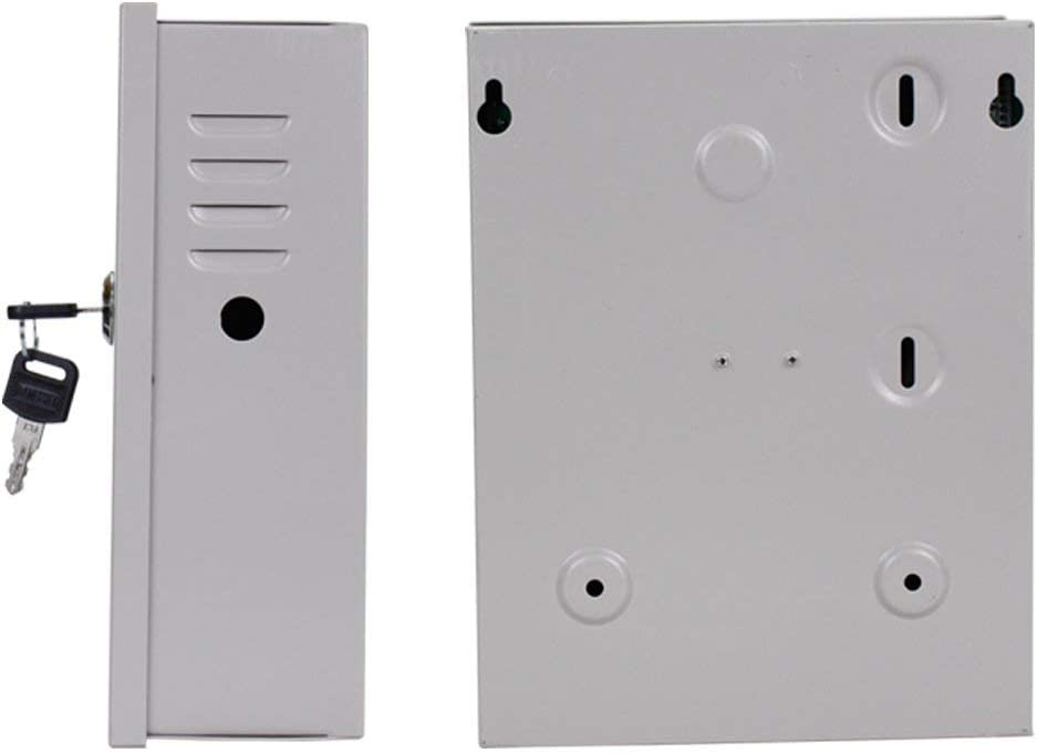 DC12V 5A Salida AC90V-260V Entrada caja de bater/ía YAVIS Caja de fuente de alimentaci/ón de control de acceso fuente de emergencia de respaldo de UPS