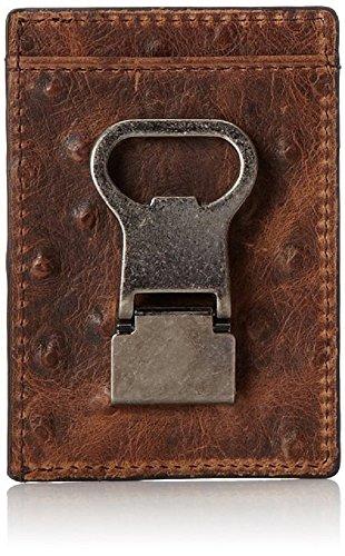 Ostrich Money Clip - Nocona Belt Co. Double Money Clip Ostrich, Brown