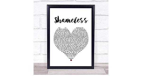 Shameless Vintage Heart Quote Song Lyric Print