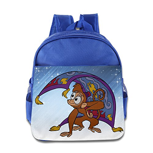 Boomy Funny Aladdin Monkey Child Backpack For 3-6 Years Old Childrens RoyalBlue Size One Size