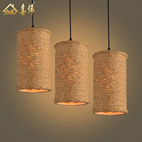 DYBLING Creative Salón Dormitorio sencillo comedor moderno las lámparas colgantes lámpara de techo nostalgia para hilo pequeño , diámetro 15cm * 25cm ...