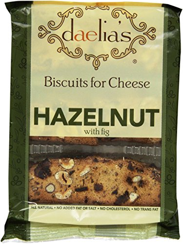 Daelia's Biscuits for Cheese Hazelnut with Fig, 4-Ounce (Pack of 4) (Biscuits Cheese Best)