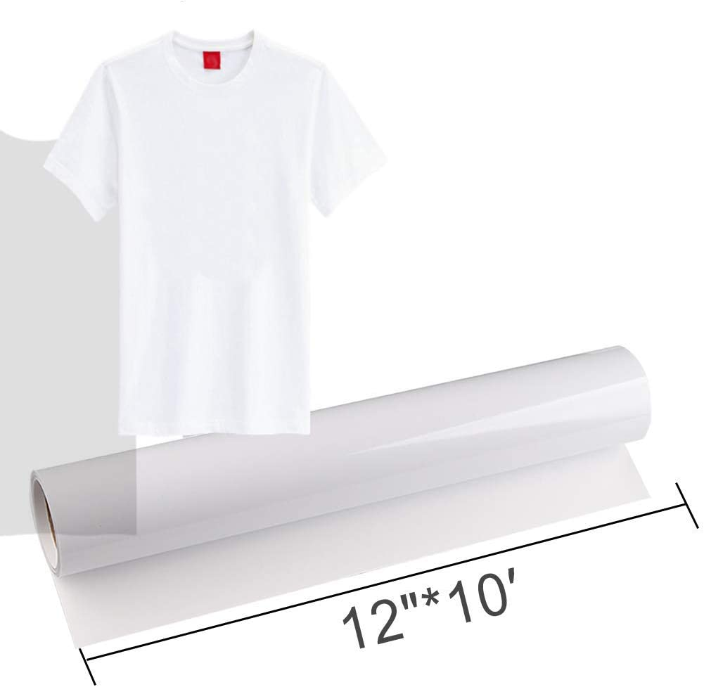 Easy to Cut /& Weed Iron on Heat DIY Heat Press Design for T-Shirts Glossy UPSTONE Premium Heat Transfer Vinyl HTV Rolls for Silhouette and Cricut 12in.x10ft Black