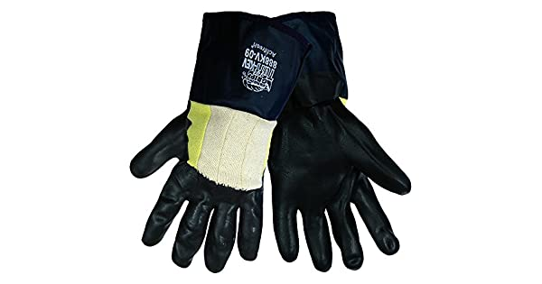 Large Global Glove Nitrile Safety Cuff Tsunami Grip 888KV-09 3//4 Dipped Five Piece Liner with Kevlar