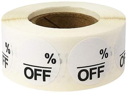 Blanco Vacio% Off Circulo Pegatinas, 19 mm 3/4 Pulgada Redonda, 500 Etiquetas en un Rollo