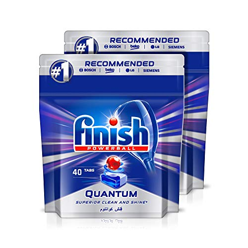 Finish Dishwasher Detergent Tablets, Quantum Max, 40 tabs (Pack of 2)