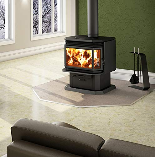 - Osburn 2200 Wood Stove w/Black Louver and Door Overlay