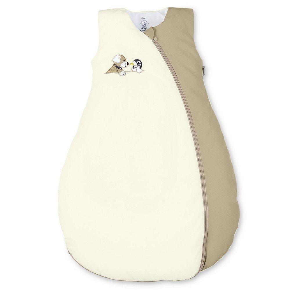Sterntaler Schlafsack für Kleinkinder, Ganzjährig, Wärmeregulierung, Reißverschluss, Größe: 70, Hanno, Beige/Braun Ganzjährig Wärmeregulierung Reißverschluss Größe: 70