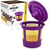 """Refillable/Reusable """"Gold Plated"""" KCup Filter for Keurig 2.0: K200, K225, K250, K300, K325, K350, K400, K425, K450, K500, K525, K550, K600, K650, K675 & 1.0 Brewers by Brewslang (Gold Plated Mesh)"""