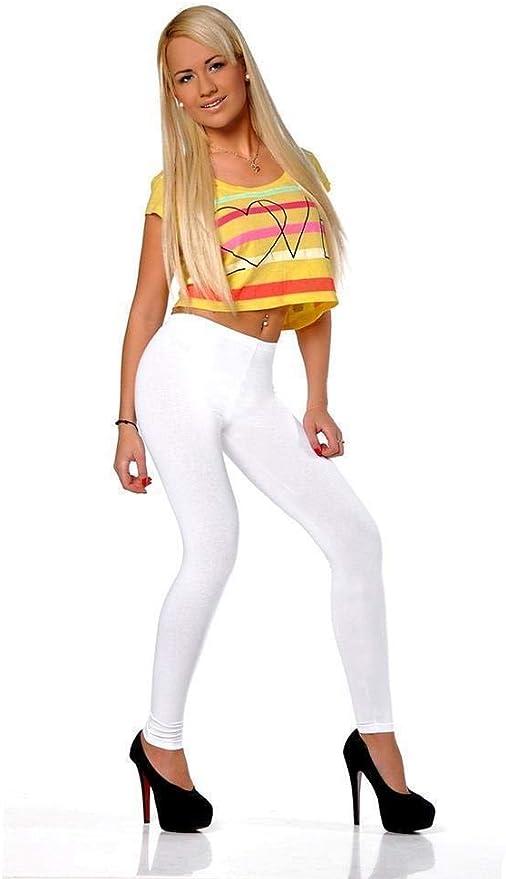 Leggings en 17 colores de algodón talla S, M, L, XL, XXL, 3XL ...