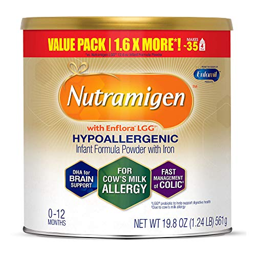 Enfamil Nutramigen Infant Formula with Enflora LGG - Hypoallergenic & Lactose-Free for Fast Colic Management - Powder Can, 19.8 oz from Enfamil