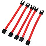 "5 Pieces of 5"" inches (12.7cm) Short Straight to Straight SATA Latching Cable"