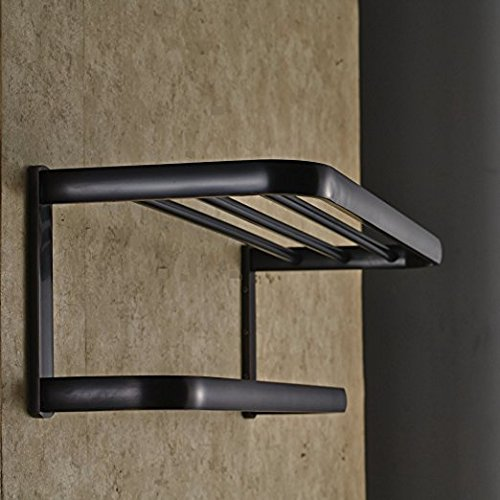 lovely Oil Rubbed Bronze Bathroom Towel Holder Shelf Wall Mounted Towel Rack