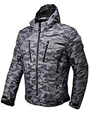 Motorcycle Camo Riding Jacket,All Seasons Waterproof Removable CE Armored Anti-impact Thermal Motorbike Jacket for Men