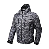 Motorcycle Riding Camo Jacket,Waterproof Removable CE Armoured Protector Jacket for Men from MOTO-BOY(2XL)