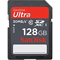 SanDisk Ultra 128GB SDXC Class 10/UHS-1 Flash Memory Card Speed Up To 30MB/s- SDSDU-128G-U46 (Label May Change) [Old Version]