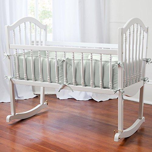 Carousel Designs Solid Silver Gray Cradle Bumper