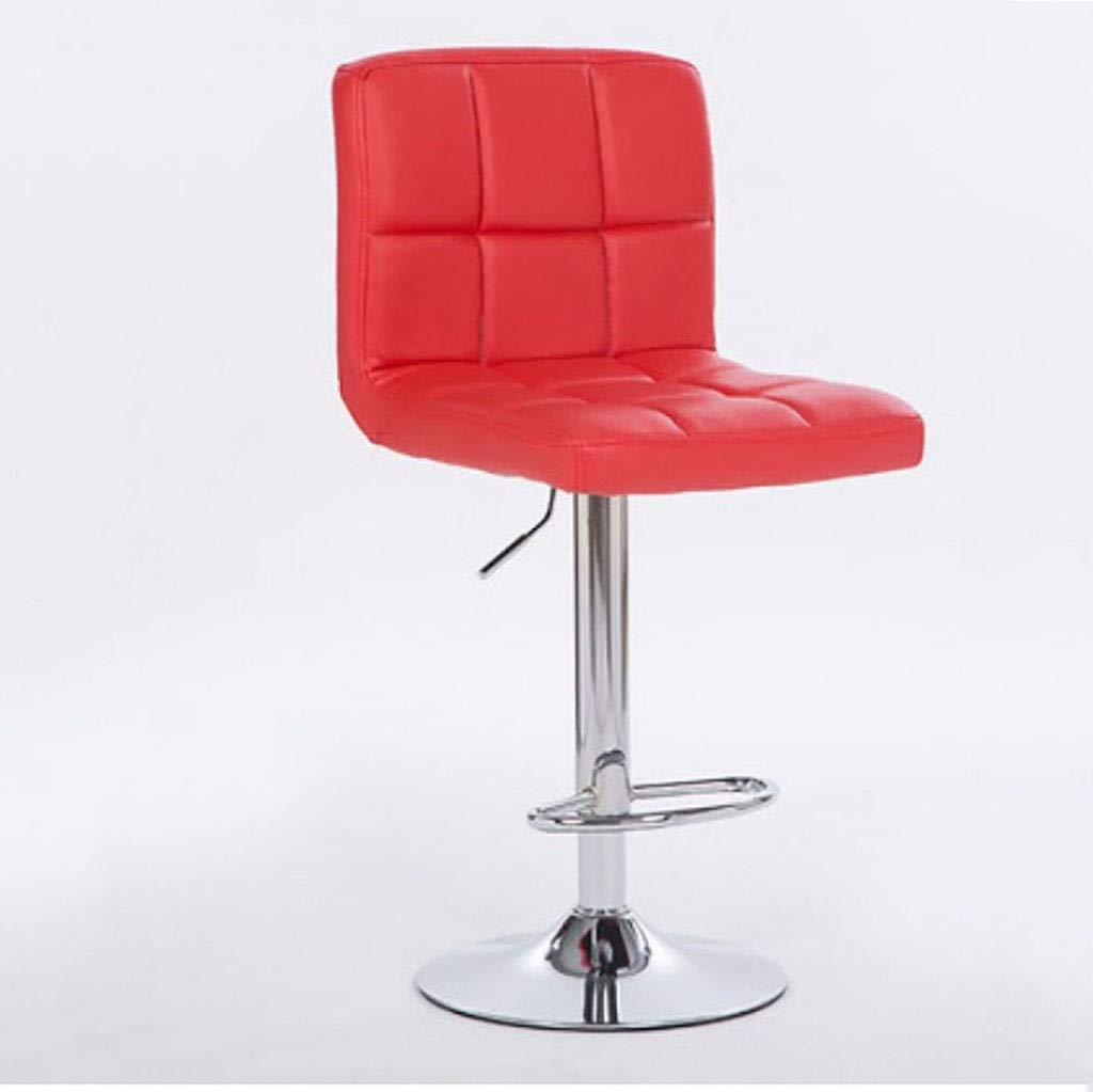 E 1 Bar Stools Swivel Leather Stool Chair with Back Adjustable Kitchen Island Counter Height Swivel Bar Stool