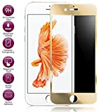 Josi Minea [ iPhone 6 Plus/6S Plus ] Tempered Glass Ballistic LCD Screen Protector Full Cover Screen Guard Film Premium HD Shield for Apple iPhone 6 Plus / 6S Plus (5.5-inch) - Gold