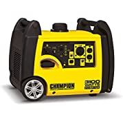 Champion Power Equipment 75531i 3100 Watt RV Ready Portable Inverter Generator, Gasoline Powered, 4 Hours Duration