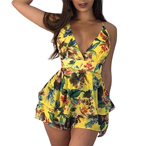 1f0314fd139 3 · Hunzed Women V-neck Floral Print Mini Shorts