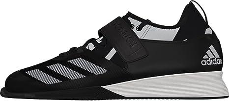 Adidas uomo Crazy Power Weightlifting sport formazione antiscivolo con lacci per scarpe, Black/White