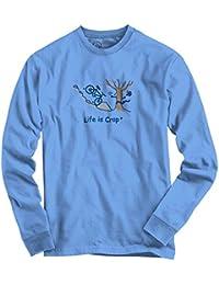 Life Is Crap Bike Crash Funny Shirt Cool Gift Idea Sarcastic Long Sleeve Tee