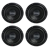 Rockford Fosgate New R2D2-10 500W 10' 2-Ohm DVC Subwoofer Power Sub Woofer (4 Pack)