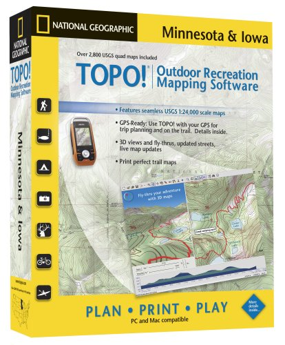 TOPO! National Geographic USGS Topographic Maps (Minnesota and Iowa)