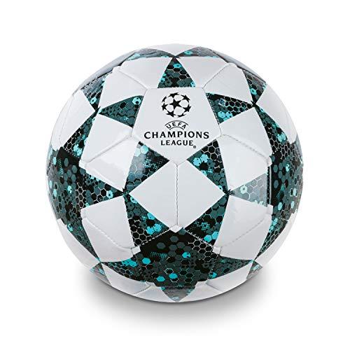 Mondo Toys 13846 – Balón de fútbol para Hombre, Talla 5, 400 g, Color Blanco, Negro y Azul