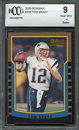 2000 bowman #236 TOM BRADY new england patriots rookie card BGS BCCG 9 Graded (236 Tom)