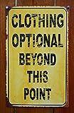 Ohio Wholesale, Inc. Clothing Optional Tin Sign