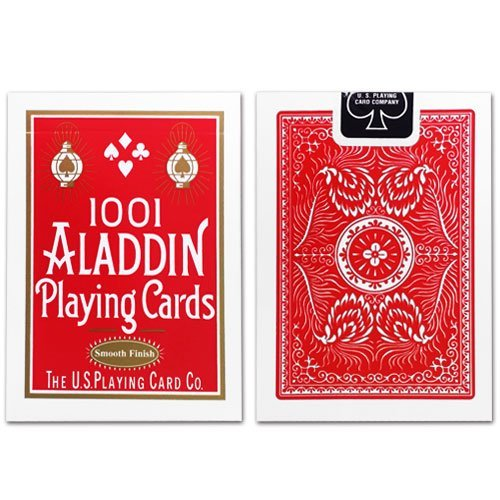 Aladdin 1 Deck of 1001 Smooth Finish (RED) Playing Cards Collectible Poker Deck