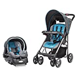 Evenflo Journey Lite Travel System W/Embrace, Monaco, Blue, White