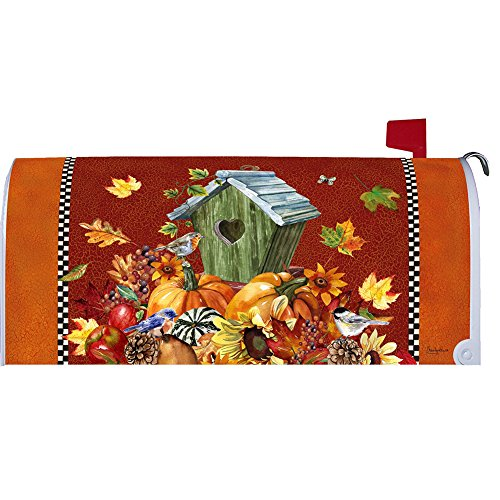 Autumn Birdhouse - Mailbox Makeover - Vinyl with Magnetic Strips - Licensed, Copyrighted and Made in the USA by Custom Decor Inc.
