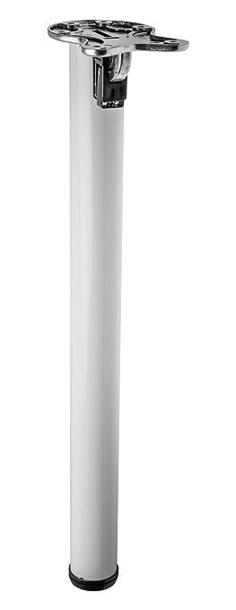 Pied De Table Pliant.1x Pied De Table Pliant 870mm 50mm Blanc Pour Meuble Table Basse