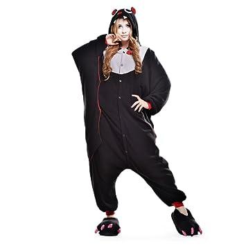 JINZFJG Pijamas Siameses de Franela Dibujo Animado Hombre/Mujer Pijama Disfraz Cosplay, Bat,