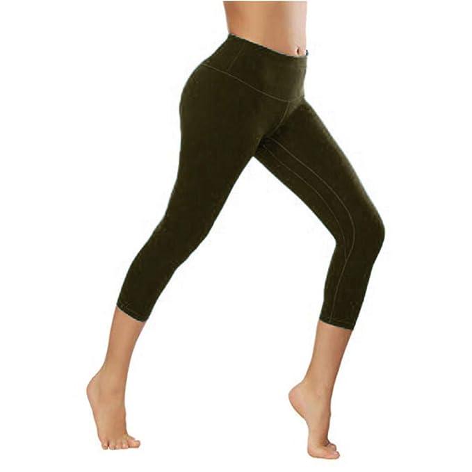 cinnamou Pantalon Mujer, SóLido Fitness Pantalones Levanta ...
