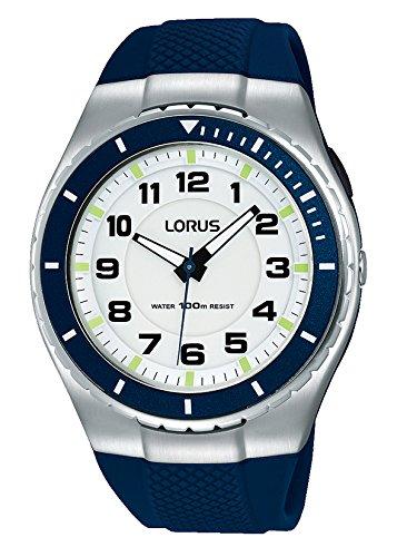 LORUS Reloj Analógico para Hombre de Cuarzo con Correa en Silicona R2329LX9