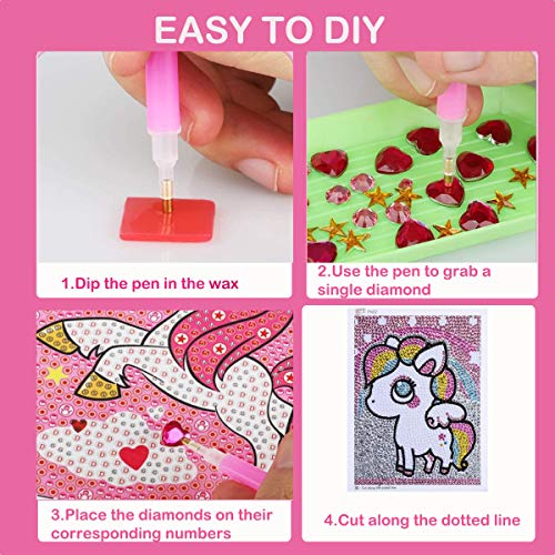 ubrand DIY 5D Diamond Painting Kits, Diamond Painting Full Drill Round Crystal Rhinestone Gem Diamond Art Painting for Kids Adults Beginners Home Wall Decor