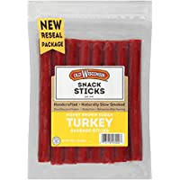 Old Wisconsin Honey Brown Sugar Turkey Sausage Snack Sticks, Naturally Smoked, Ready to Eat, High Protein, Low Carb, Keto, Gluten Free, 16 Ounce Resealable Package