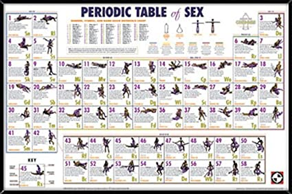 Amazon Periodic Table Of Sex Poster In A Black Thin Poster