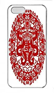 Chinese Papercuts PC Transparent For Iphone 5/5S Phone Case Cover - Blessing