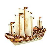 Robotime 3D Wooden Jigsaw Puzzle DIY Woodcraft Model Educational Toys Ancient Ship Zheng He BA401S