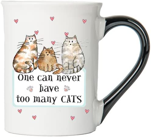One Can Never Have Too Many Cats Mug, Cat Mug, Gifts for Cat Lovers, Pet Coffee Cup, Ceramic Mug, Pet Gifts By Tumbleweed
