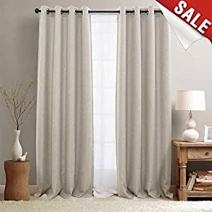 Curtains for bedroom linen textured room - Beige and white bedroom curtains ...
